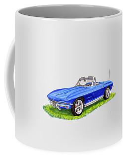 Coffee Mug featuring the painting 1964 Corvette Stingray by Jack Pumphrey