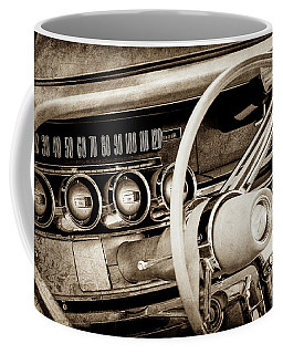 Coffee Mug featuring the photograph 1964 Ford Thunderbird Steering Wheel -0280s by Jill Reger