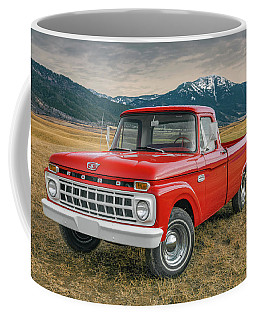 Coffee Mug featuring the photograph 1965 Ford Truck 2 by Leland D Howard