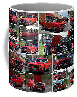 1965 Mustang Fastback Collage Coffee Mug