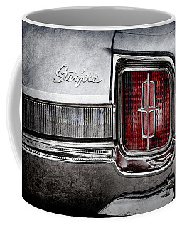 Coffee Mug featuring the photograph 1965 Oldsmobile Starfire Taillight Emblem -0212ac by Jill Reger