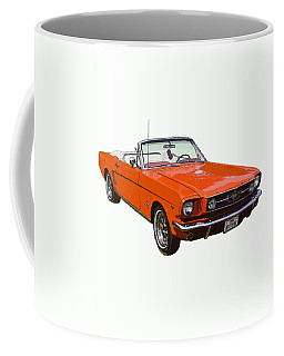1965 Red Convertible Ford Mustang - Classic Car Coffee Mug