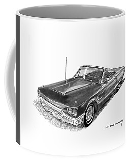 1965 Thunderbird Convertible By Ford Coffee Mug by Jack Pumphrey