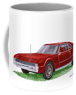 Coffee Mug featuring the painting 1966 Oldsmobile Toronado by Jack Pumphrey