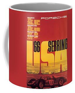 1966 Porsche 12 Hours Of Sebring Coffee Mug