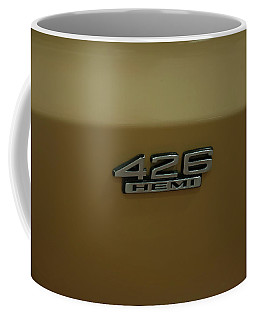 Coffee Mug featuring the photograph 1967 Belvedere Gtx 426 Hemi Badge by Chris Flees