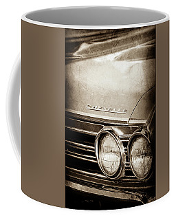 Coffee Mug featuring the photograph 1967 Chevrolet Chevelle Ss Super Sport Emblem -0413s by Jill Reger
