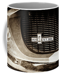 1967 Ford Gt 350 Shelby Clone Grille Emblem -0759s Coffee Mug by Jill Reger