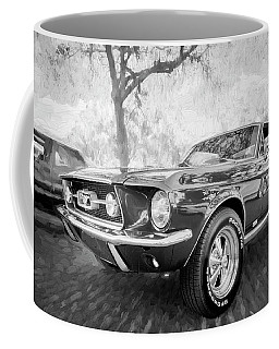 1967 Ford Mustang Coupe Bw C119 Coffee Mug by Rich Franco