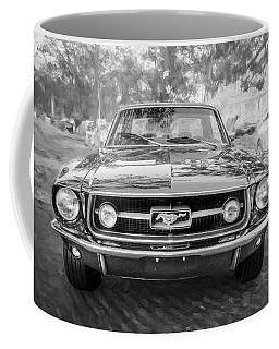1967 Ford Mustang Coupe Bw C122 Coffee Mug by Rich Franco