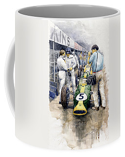 1967 Lotus 49t Ford Coswoorth Jim Clark Graham Hill Coffee Mug