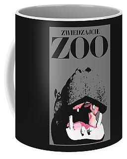 1967 Poland Zoo Hippopotamus Poster Coffee Mug