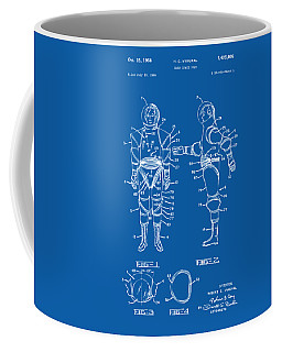 1968 Hard Space Suit Patent Artwork - Blueprint Coffee Mug