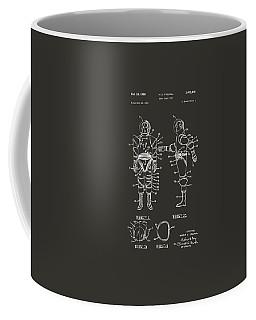 1968 Hard Space Suit Patent Artwork - Gray Coffee Mug