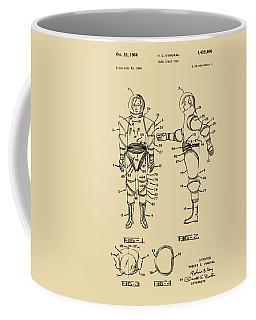 1968 Hard Space Suit Patent Artwork - Vintage Coffee Mug