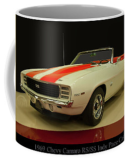Coffee Mug featuring the photograph 1969 Chevy Camaro Rs/ss Indy Pace Car by Chris Flees