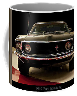 Coffee Mug featuring the digital art 1969 Ford Mustang by Chris Flees