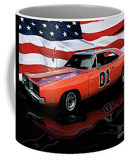 Coffee Mug featuring the photograph 1969 General Lee by Peter Piatt