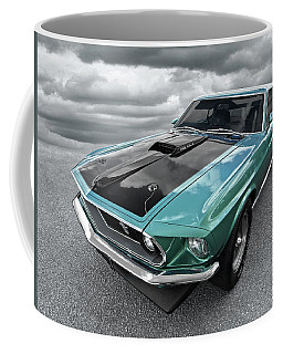 1969 Green 428 Mach 1 Cobra Jet Ford Mustang Coffee Mug