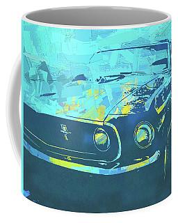 1969 Mustang Mach 1 Blue Pop Coffee Mug