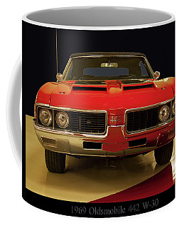 Coffee Mug featuring the photograph 1969 Oldsmobile 442 W-30 by Chris Flees