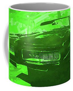 1969 Pontiac Gto Convertible Pop Green Coffee Mug