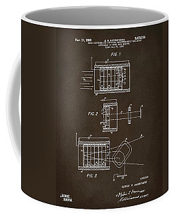 Coffee Mug featuring the digital art 1969 Short Wave Electromagnetic Radiation Patent Espresso by Nikki Marie Smith