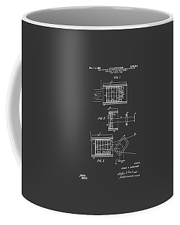Coffee Mug featuring the digital art 1969 Short Wave Electromagnetic Radiation Patent Gray by Nikki Marie Smith