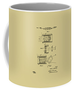 Coffee Mug featuring the digital art 1969 Short Wave Electromagnetic Radiation Patent Vintage by Nikki Marie Smith