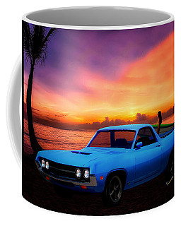 1970 Ranchero Dominican Beach Sunrise Coffee Mug