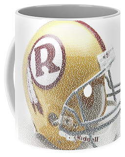 Coffee Mug featuring the digital art 1971 Redskins Helmet Greatest Players Mosaic by Paul Van Scott
