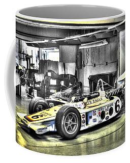 Bobby Unser 1972 Olsonite Eagle Pole Position Car  Coffee Mug