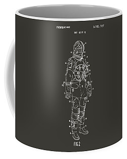 1973 Astronaut Space Suit Patent Artwork - Gray Coffee Mug