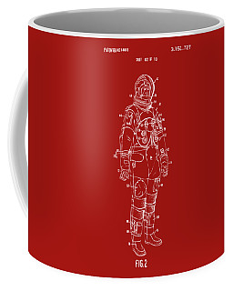 1973 Astronaut Space Suit Patent Artwork - Red Coffee Mug