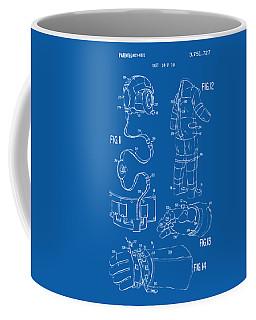 1973 Space Suit Elements Patent Artwork - Blueprint Coffee Mug