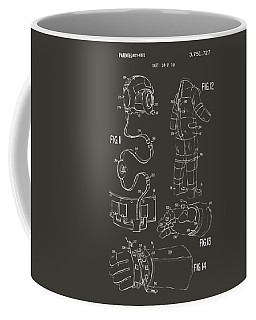 1973 Space Suit Elements Patent Artwork - Gray Coffee Mug
