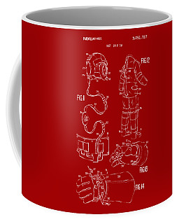 1973 Space Suit Elements Patent Artwork - Red Coffee Mug