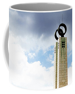 Coffee Mug featuring the photograph 1974 Revolution Memorial Wrapped In Clouds by Lorraine Devon Wilke