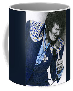 1975 Dark Blue Two Piece Suit Blue Gold Ornaments Coffee Mug