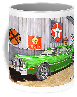 Coffee Mug featuring the painting 1976 Ford Thunderbird by Jack Pumphrey