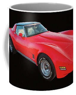1977 Chevy Corvette T Tops Digital Oil Coffee Mug