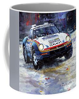 1986 Porsche 959/50 #185 2nd Dakar Rally Raid Ickx, Brasseur Coffee Mug