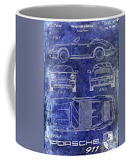 1990 Porsche 911 Patent Blue Coffee Mug