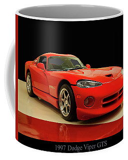 Coffee Mug featuring the digital art 1997 Dodge Viper Gts Red by Chris Flees