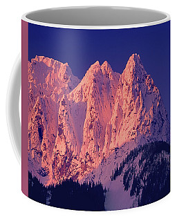 1m4503-a Three Peaks Of Mt. Index At Sunrise Coffee Mug