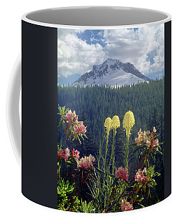 1m5101 Flowers And Mt. Hood Coffee Mug