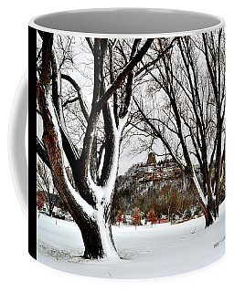 1st Snowfall With Sugarloaf Coffee Mug