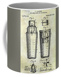 1913 Cocktail Shaker Patent Coffee Mug
