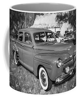 1942 Ford Super Deluxe Sedan Bw  Coffee Mug