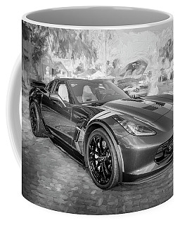 2017 Chevrolet Corvette Gran Sport Bw Coffee Mug by Rich Franco